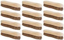Traditional rigide dur brosse de lavage main deck balai natural bristle wooden uk