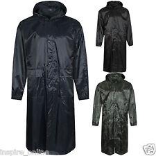 Hommes femmes unisexe long à capuche kagool Imperméable Manteau de Pluie Pluie MAC Manteau