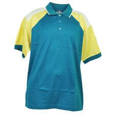 Red Jacket Collar Polo Aqua Green Button Dress Shirt Mens Adult Short Sleeve