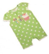 Ex BHS Baby Girls Green Spotty Mummys Cupcake Romper Age 0 3 6 9 12 Months