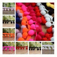 1/5/10/25yd 12mm Pom Pom Trim Ball Fringe Ribbon Sewing Accessory Lace