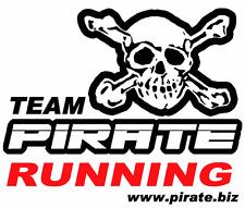 Pirate T-SHIRT TEAM running, pirata, SKULL, Gothic, Teschio
