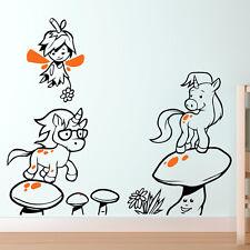 fées et licornes Autocollant Mural Art Décalque Fée THÈME CHAMBRE D'enfant