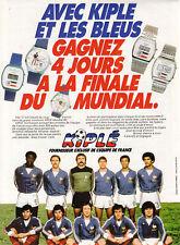Publicité ancienne montres Kiple 1982 issue de magazine