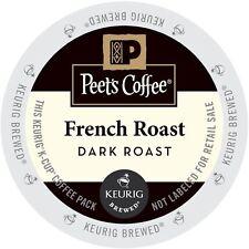 Peet's Coffee French Roast Coffee 22 to 88 Keurig K cups Pick Any Size FREE SHIP
