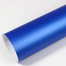 4,93€/m² Premium Autofolie Blau Matt Metallic Luftkanäle Car Wrapping Folie 3D