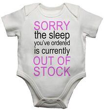 Mi dispiace Sleep ordinato è esaurito le Ragazze Divertenti Baby / Bambino Vest crescere BODYSUITS