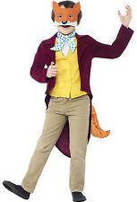 Fantastic Mr Fox Smiffys Roald Dahl Kids Child Book Day Week Fancy Dress Costume