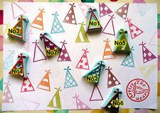 Party Chapeau tampon en caoutchouc, célébrations STAMP, Enfants, Anniversaire, Noël, Fête Prop