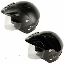 NITRO X512-V DEMI JET MOTORBIKE MOTORCYCLE SCOOTER OPEN FACE CRASH HELMET BLACK