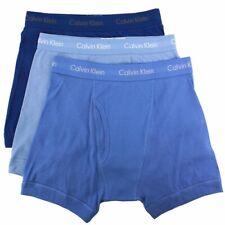 Calvin Klein Men's 3-Pc Blue Depths Classic Fit Cotton Boxers Briefs Underwear