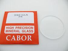 2,5 mm dicke Uhrenglas ersatz Gehärtete mineral glas 30 bis 35,9 mm 300 - 359