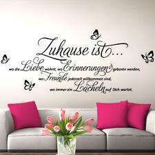 Wandtattoo Wandsticker Wandaufkleber Wohnzimmer Spruch Zitat Zuhause ist W1309