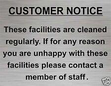 Toilet Door Sign, Customer Notice, Disabled, Gents, Shower, Bar, Adhesive New