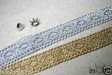 "1Yds Crochet metallic Vintage Style wedding Cotton lace 1.1"" GS016 laceking2013"
