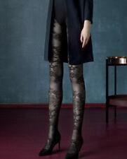 Collant fantaisie sexy femme noir semi opaque motif 30 den BLACK DAHLIA FIORE