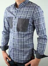 Armani Exchange A|X Contrast Pocket Slim Fit Plaid Shirt NWT
