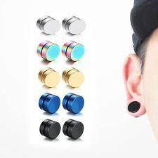 1Piece Punk Men's Strong Magnet Magnetic Ear Stud Set