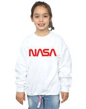 NASA Bambine e ragazze Modern Logo Felpa