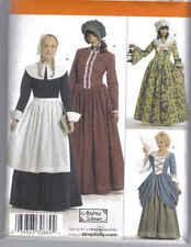Pattern NEW Colonial DRESS 6-12 & 14-22 apron hat scarf s3723 civil war cap Sew