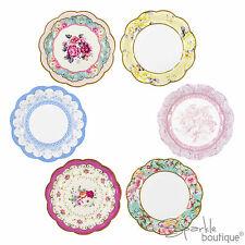 VINTAGE/shabby chic piatti di carta-Tea Party-FULL davvero eccezionale gamma in negozio