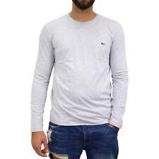 LACOSTE MANICA LUNGA T-Shirt SILVER chine SHIRT MAGLIONCINO UOMO th2040 Grigio CCA