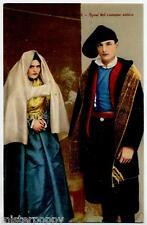 COSTUMI SARDI SARDEGNA Sposi nel costume antico PC Circa 1920