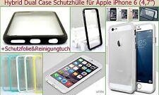 Hard Case Cover Schale Etui Handy hart Dual Tasche Bumper Schutz Hülle Folie Set