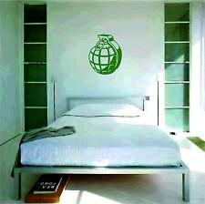 Grenade Wall Sticker vinyl art large graphic decal deco explode bang bedroom
