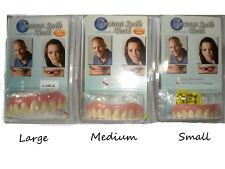 SECURE INSTANT SMILE TEETH Fake False Artificial Teeth Dental Veneer CHOOSE SIZE