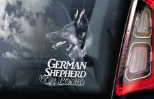 German Shepherd - Car Window Sticker - Alsatian Dog on Board Sign GSD Decal -V10