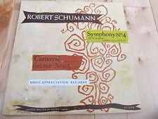 ROBERT SCHUMANN GUIOMAR NOVAES PIANIST 33 RPM LP CARNAVAL SYMPH NO 4 SZELL