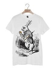 Lote 1 Alicia en el país de las maravillas a través del espejo Camiseta Unisex De Conejo Blanco