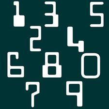 7 cm Zahlen Aufkleber Klebezahlen Ziffern Sticker 1 bis 200 Stück weiß SA-66