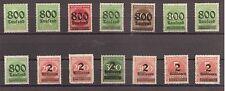 1923 Deutsches Reich aus Mi. 301-312 ** postfrisch Satz oder Einzelmarken