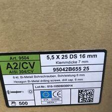 5x Sechskant-Bohrschrauben 9504 mit Bohrleistung 6mm Edelstahl VA CV Bi-metall