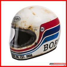 Casco Moto Vintage Integrale Fibra Premier Trophy 70 s Born To Race Invecchiato