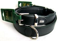 Hunter Softie Hundehalsband Nubuk Leder Farbe Schwarz