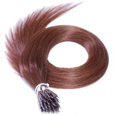 Anello Nano TIP 100% Remy Extension Capelli Umani con gli anelli scuri Auburn #33