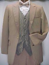 Vintage Medium Brown With Satin Mens Tuxedo Jacket Or 4pc Retro Tux
