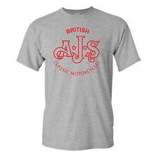 AJS-MOTORBIKE-TRIBUTE-BRITISH-CLASSIC-VINTAGE-BIKER-RETRO-GREY-GILDAN-T-SHIRT