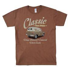 Ford Thames Van Classic Van Man T Shirt Retro Original Design brown