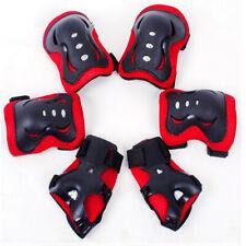 6x Schutzausrüstung Set Knieschoner Kinder Handgelenkschoner Ellenbogen Pad Blau