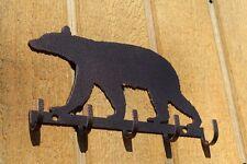 Bear Key Holder Metal Wall Art Home Decor