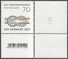 G20-Präsidentschaft mit EAN-CODE – 70 Ct. ** – Mi.Nr. 3291 –EZM, Paare, Streifen