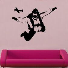Sky Diving Decal Vinyl Wall Sticker Art Kids Room Boys Girls Décor