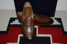 Ralph Lauren Purple Label Edward Green Burnished Calf Penny Loafer Dress Shoes