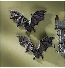 Set of 2: Count Dracula Vampire Bats Halloween Decoration Wall Sculptures Props