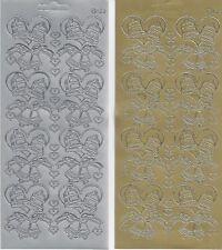 Wedding Bells Peel Off Stickers - Silver Wedding Anniversary Card Craft Stickers