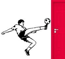 Soccer Wall Stickers Sport Football Player Ball Vinyl Decal (ig616)